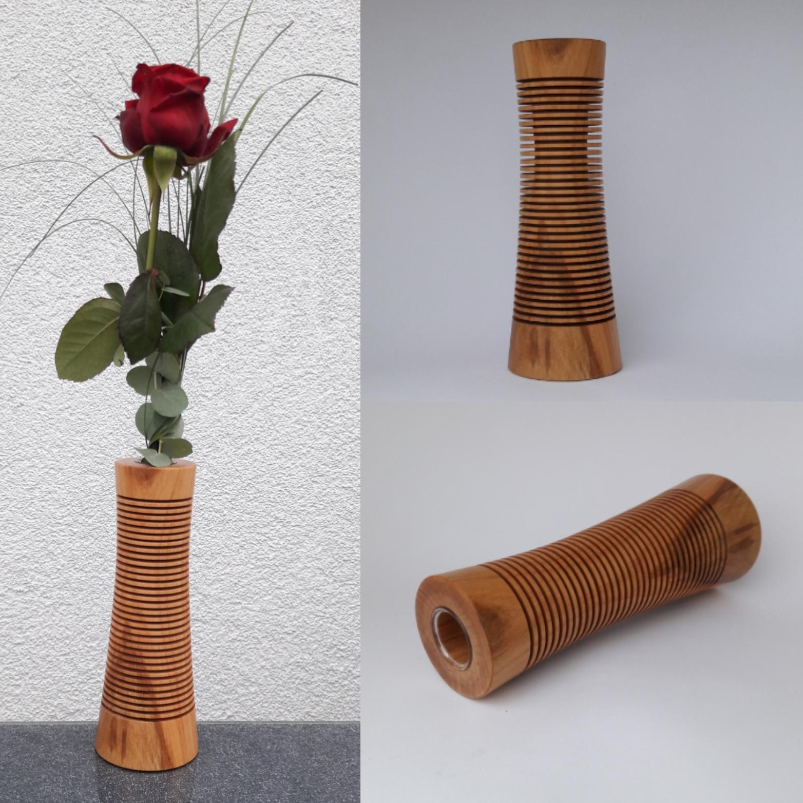 Kirschbaum-Vase von Hermann Weindl